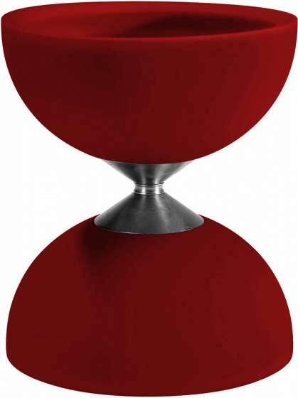 Acrobat diabolo 105 rubber 12 x 10,5 cm rood
