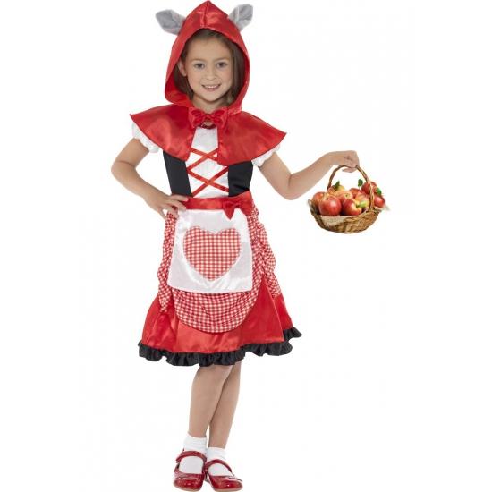 Carnaval kostuum roodkapje voor kids