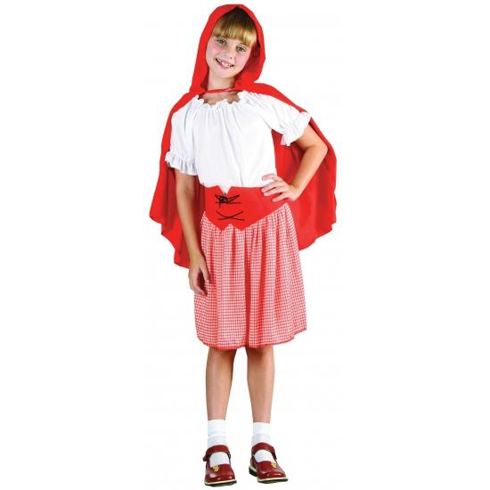 Carnaval outfit roodkapje voor kids