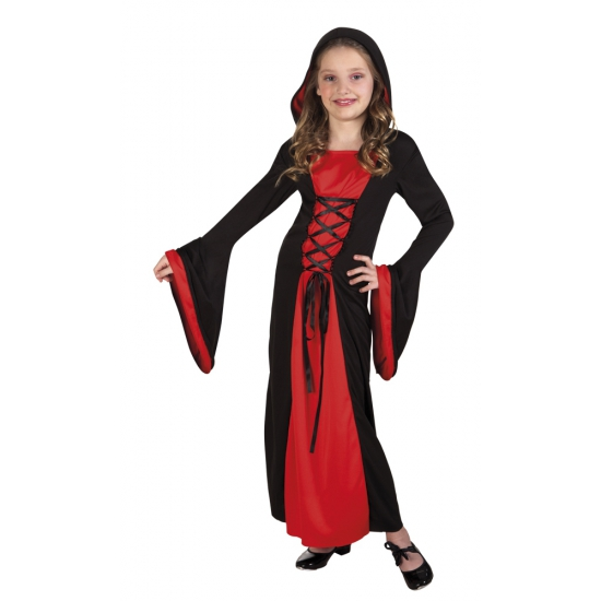 Carnavalskleding vampier jurk Valentina voor meisjes