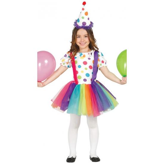 Clowns jurk met hoed voor meisjes