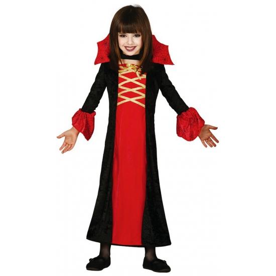 Dracula jurk voor meisjes rood