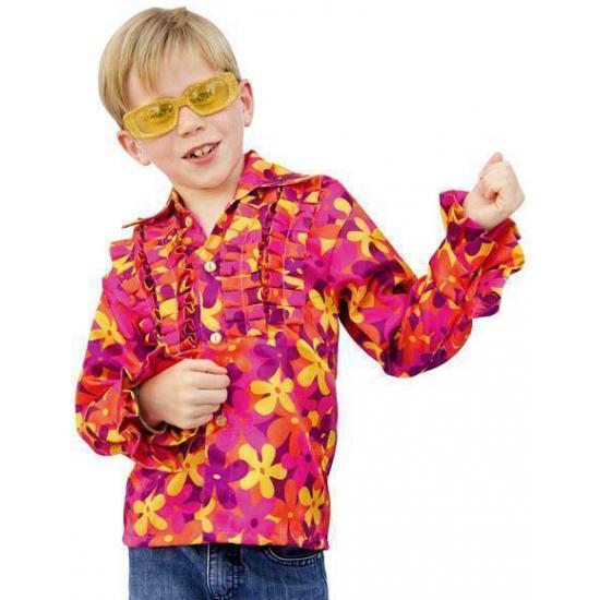 Gekleurde disco blouse voor kinderen