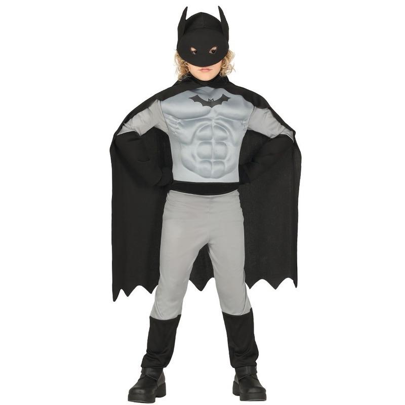Gespierde vleermuisheld grijs/zwart verkleedkostuum voor jongens