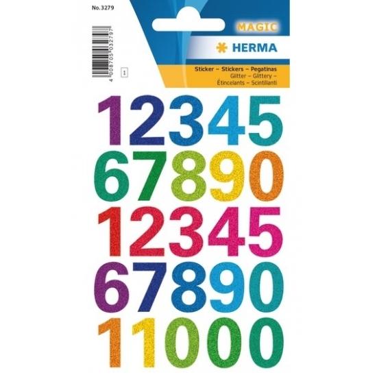 Getallen stickers 1 vel met alle cijfers