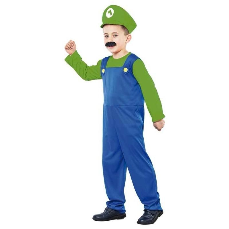 Groene Super Loodgieter verkleedkleding