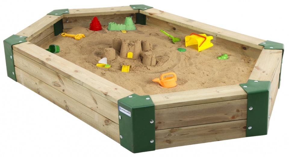 Hörby Bruk zandbak 210 x 110 x 25 cm bruin/groen