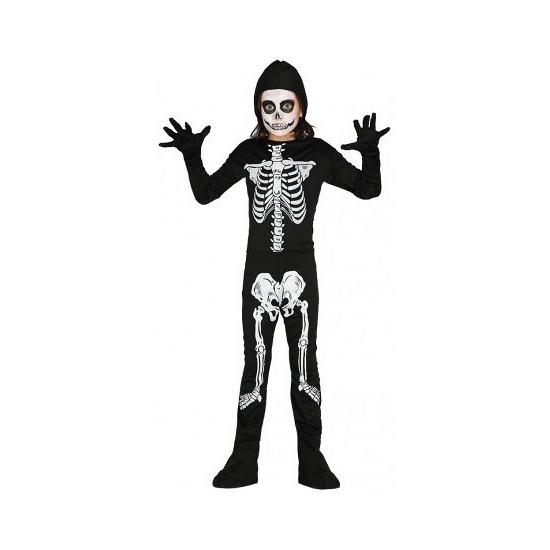 Halloween skelet jumsuit voor kinderen