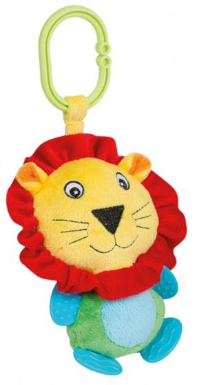 Happy People knuffeldier aan koord pluche leeuw 18 cm