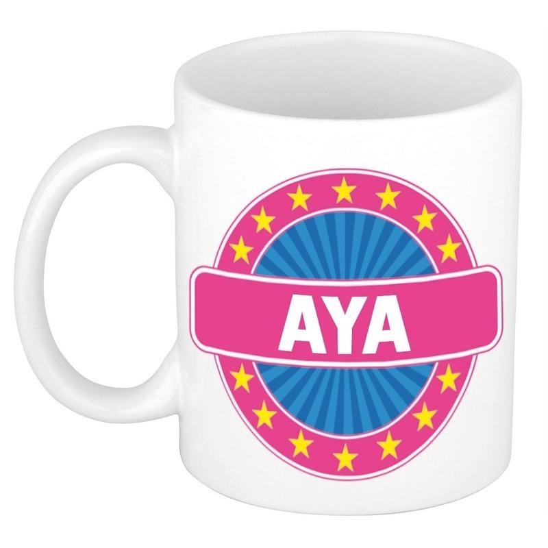Kado mok voor Aya