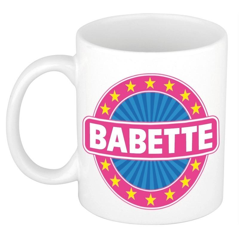 Kado mok voor Babette
