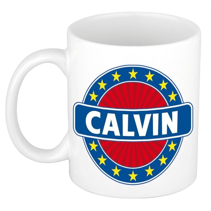 Kado mok voor Calvin