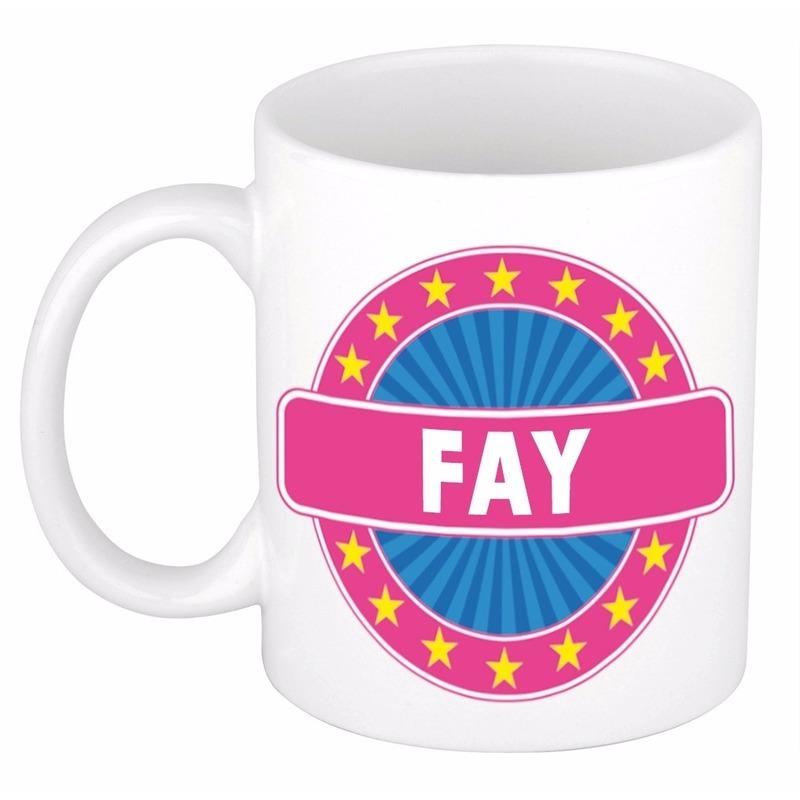 Kado mok voor Fay