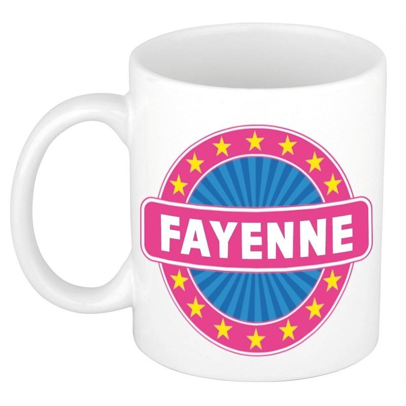 Kado mok voor Fayenne