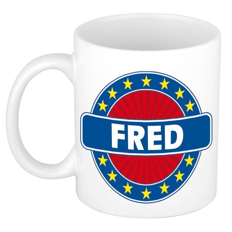 Kado mok voor Fred