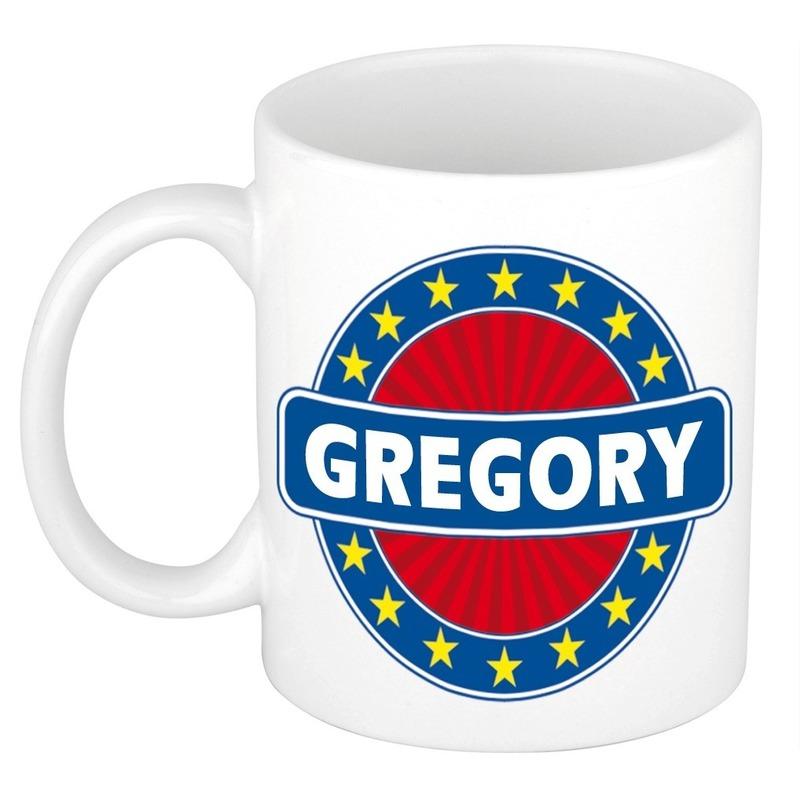 Kado mok voor Gregory