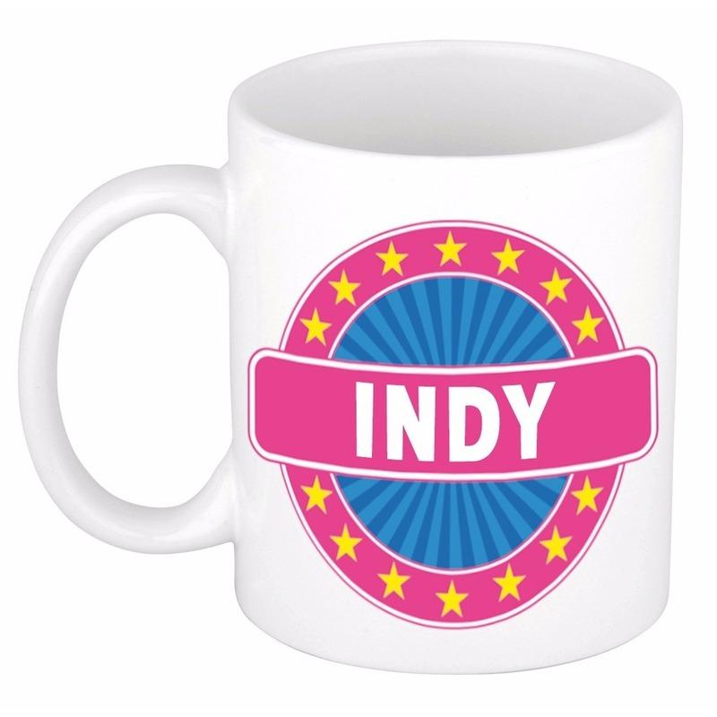 Kado mok voor Indy