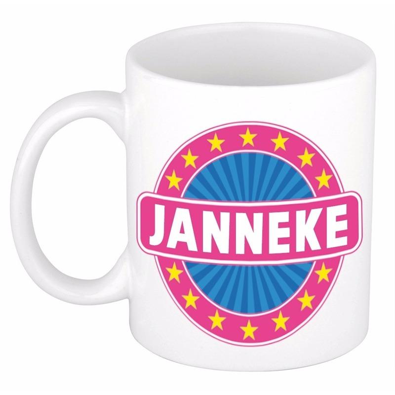 Kado mok voor Janneke