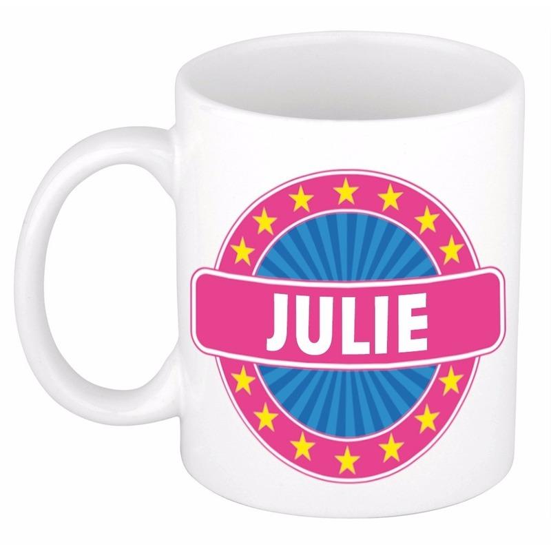 Kado mok voor Julie