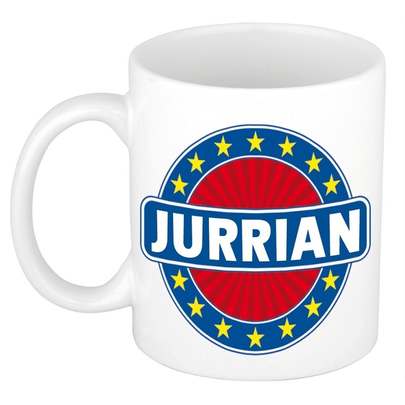 Kado mok voor Jurrian