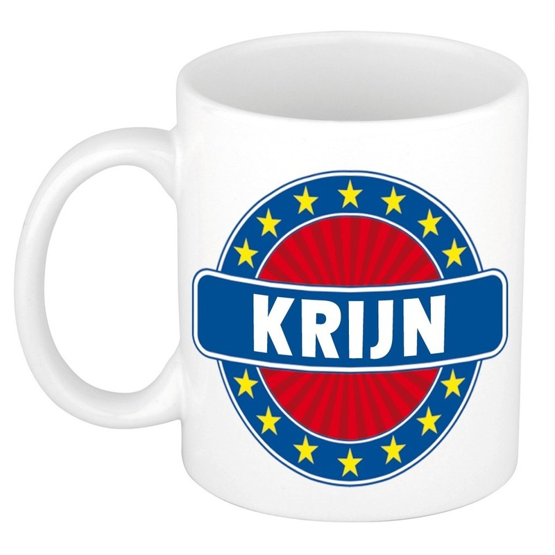 Kado mok voor Krijn