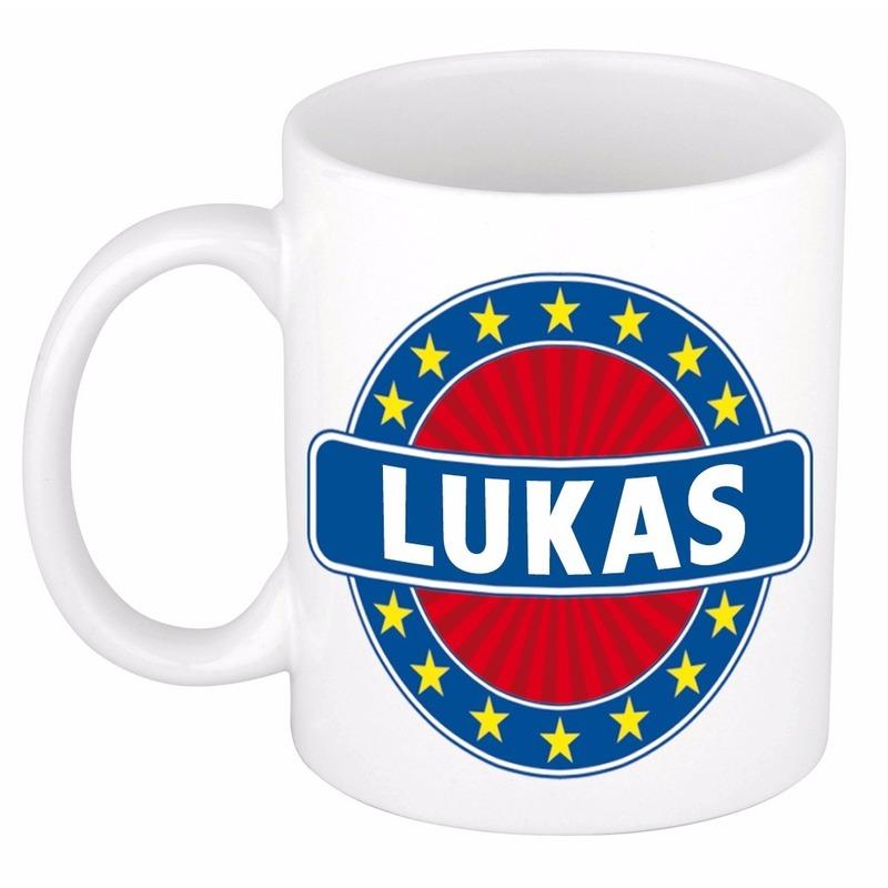 Kado mok voor Lukas