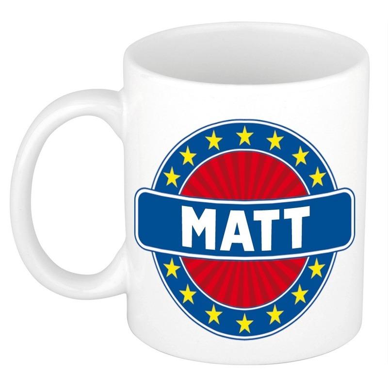 Kado mok voor Matt