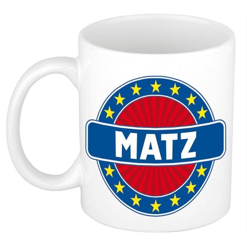 Kado mok voor Matz