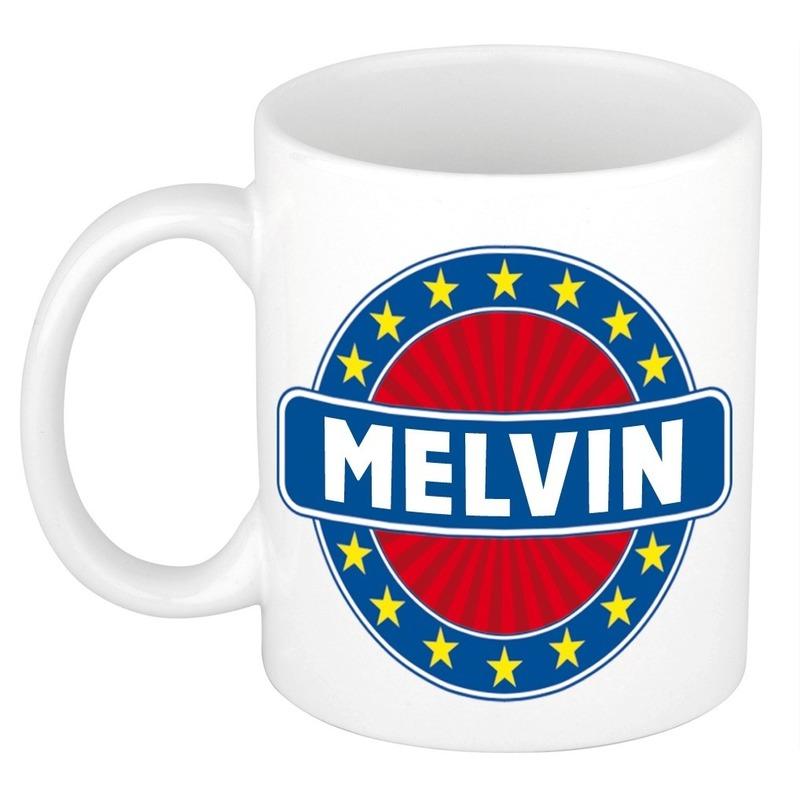 Kado mok voor Melvin