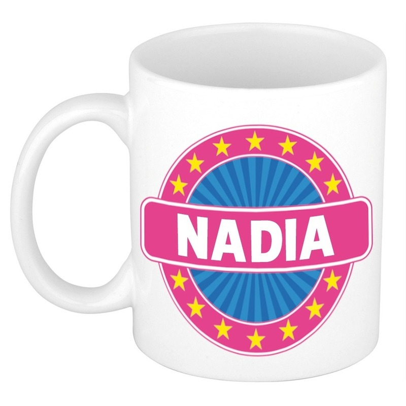Kado mok voor Nadia
