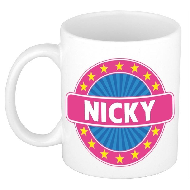 Kado mok voor Nicky