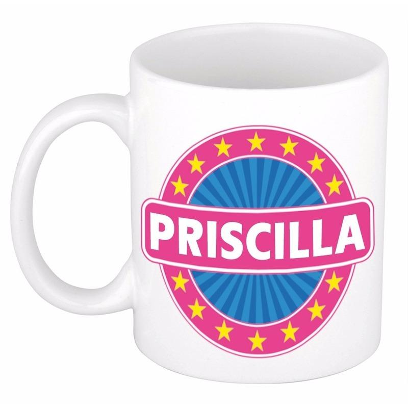 Kado mok voor Priscilla