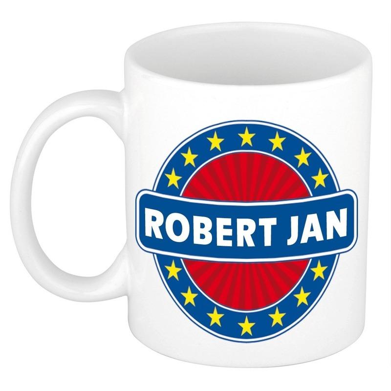Kado mok voor Robert Jan