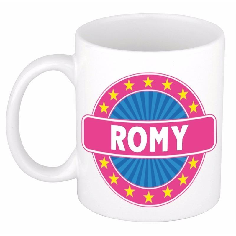 Kado mok voor Romy