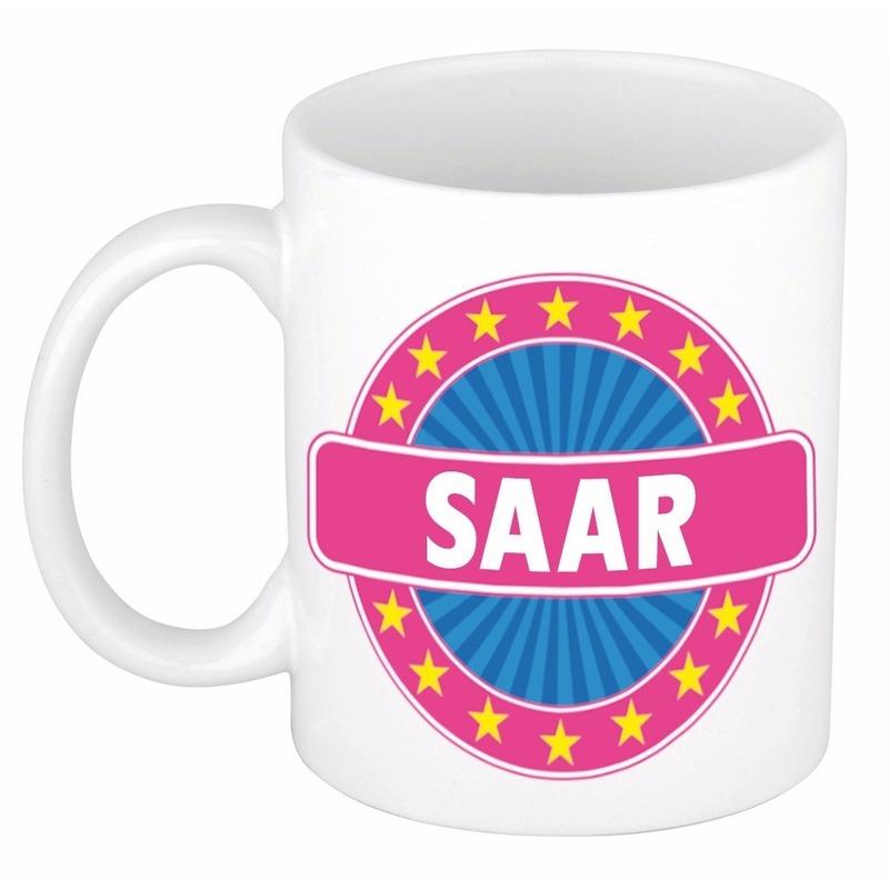 Kado mok voor Saar