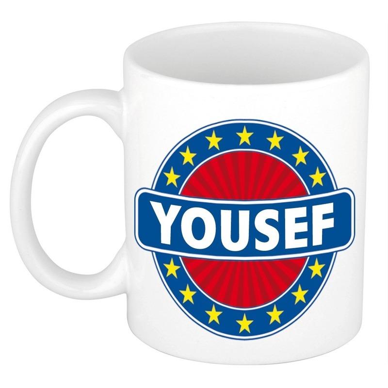 Kado mok voor Yousef