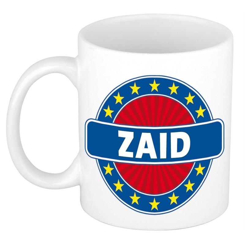 Kado mok voor Zaid