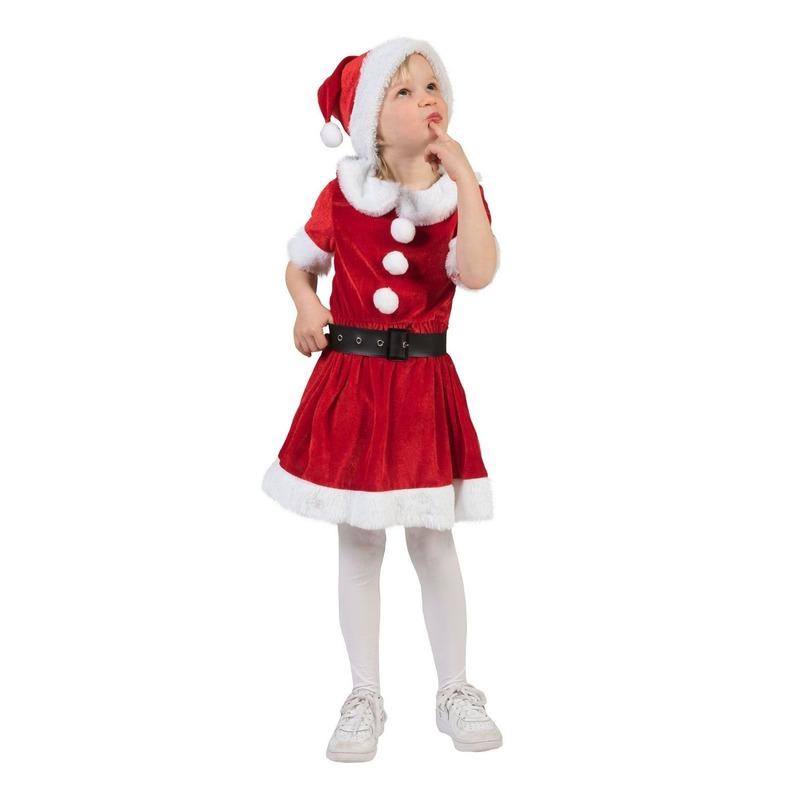 Kerstvrouw verkleed jurkje voor meisjes