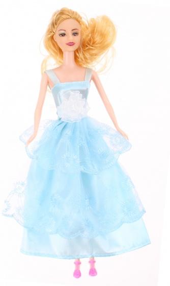Kids Fun tienerpop Sophie met extra kleding 30 cm lichtblauw