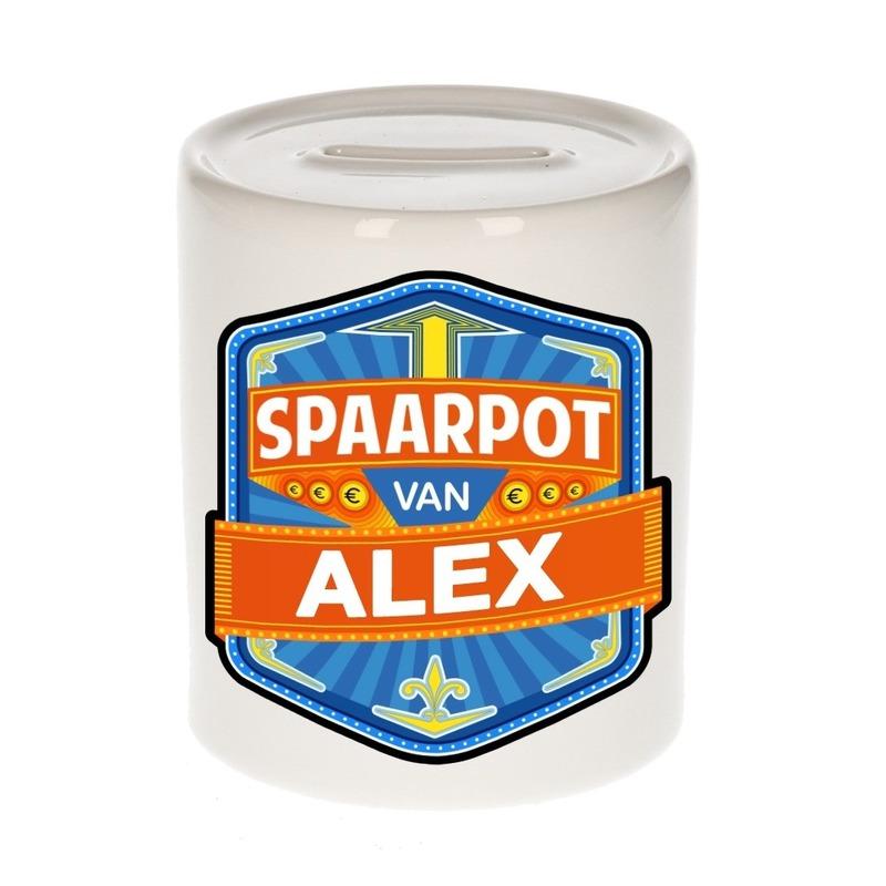 Kinder cadeau spaarpot voor een Alex