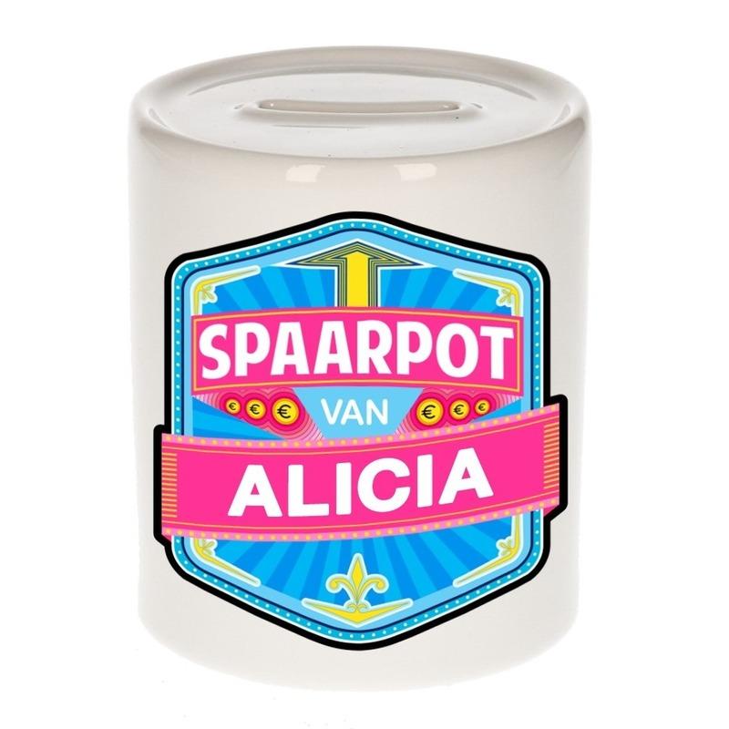 Kinder cadeau spaarpot voor een Alicia