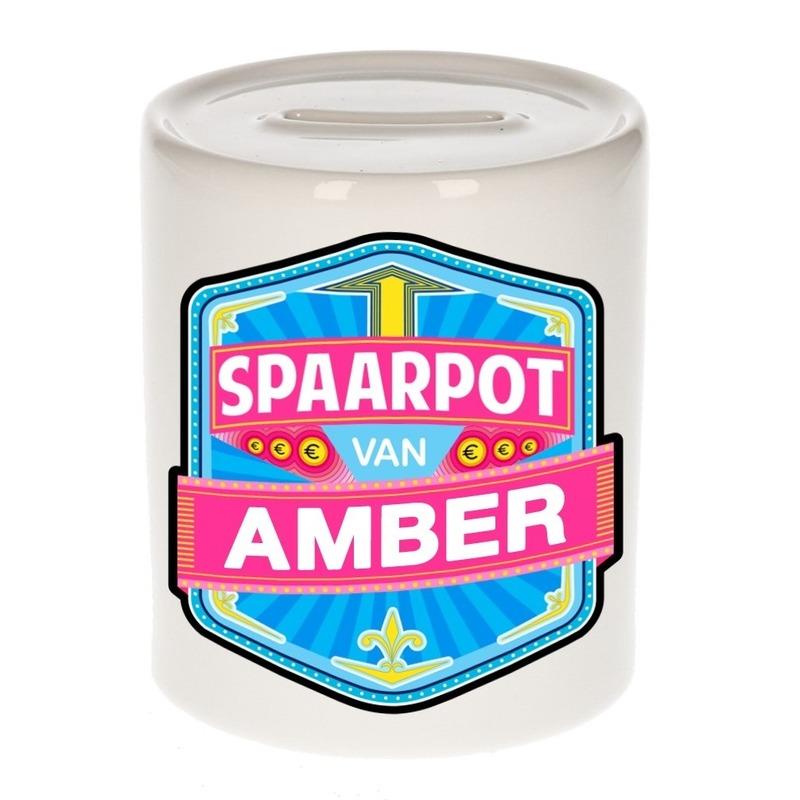 Kinder cadeau spaarpot voor een Amber