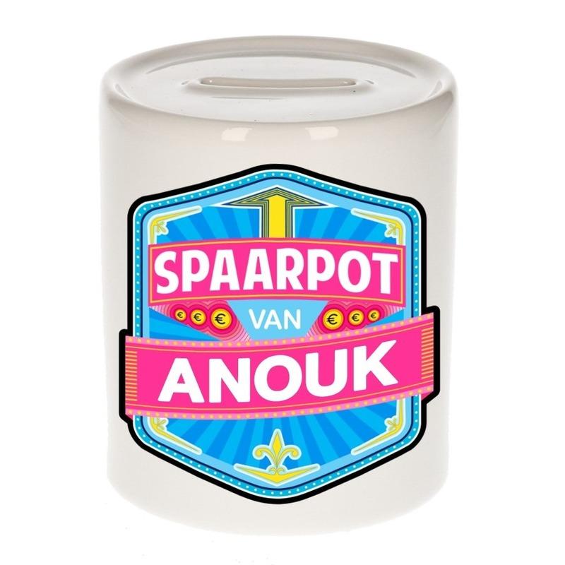 Kinder cadeau spaarpot voor een Anouk
