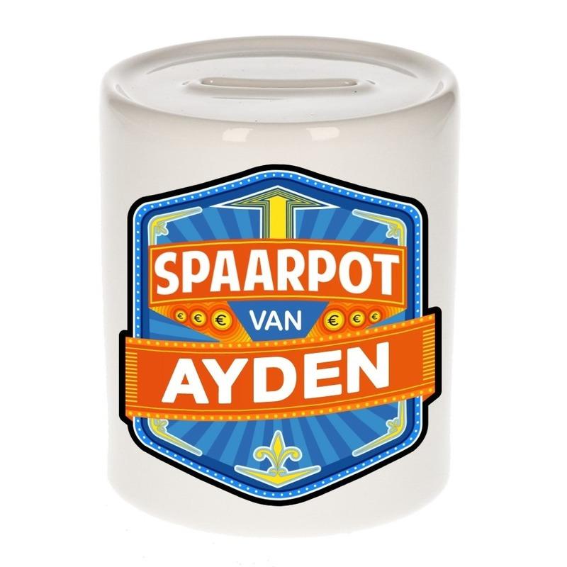 Kinder cadeau spaarpot voor een Ayden
