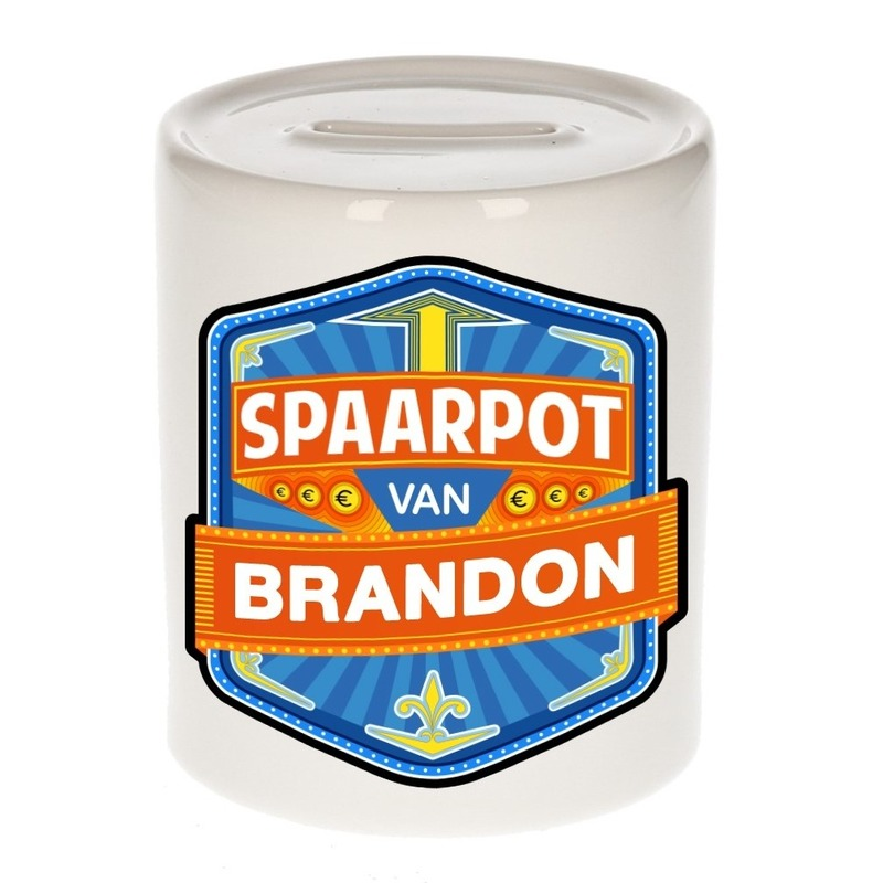 Kinder cadeau spaarpot voor een Brandon