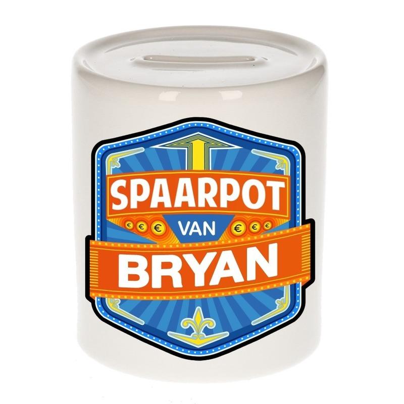 Kinder cadeau spaarpot voor een Bryan