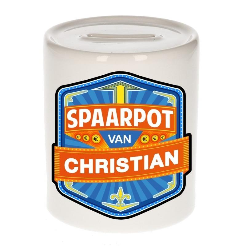 Kinder cadeau spaarpot voor een Christian