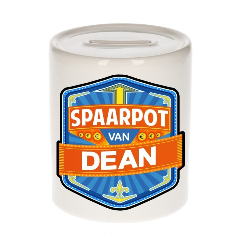 Kinder cadeau spaarpot voor een Dean