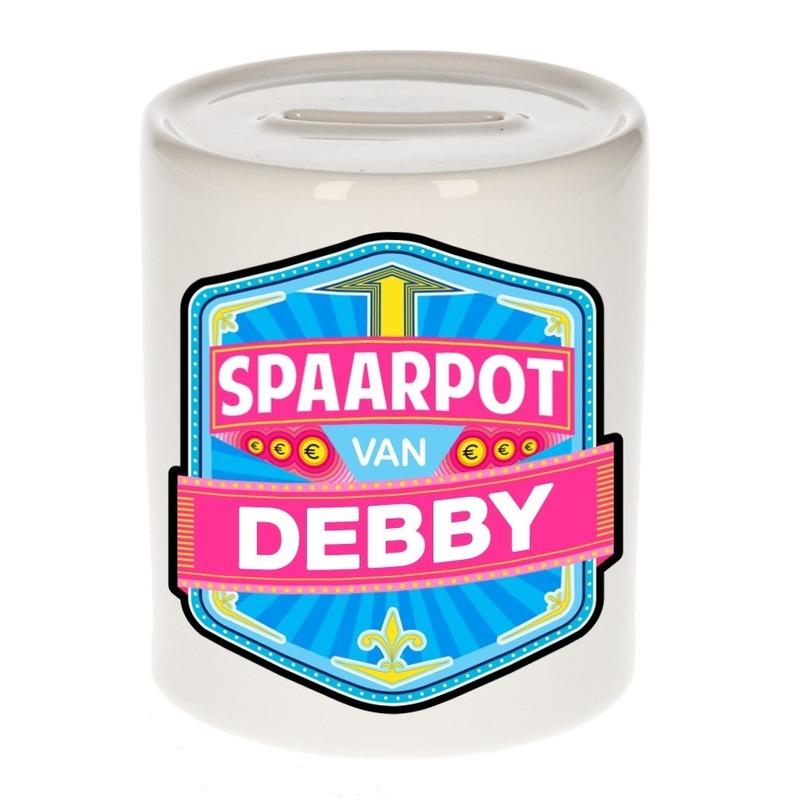 Kinder cadeau spaarpot voor een Debby