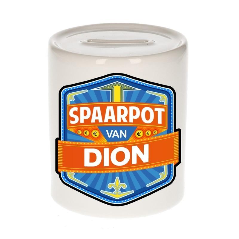 Kinder cadeau spaarpot voor een Dion